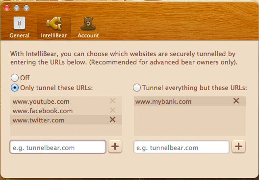 Filter Your VPN Tunnels With Tunnelbear's Intellibear intellibear4