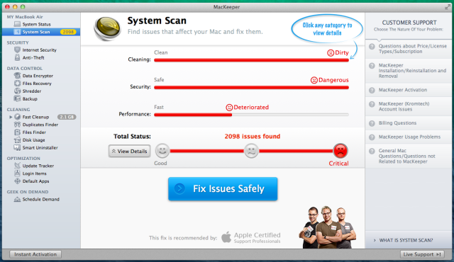 mackeeper-system-scan
