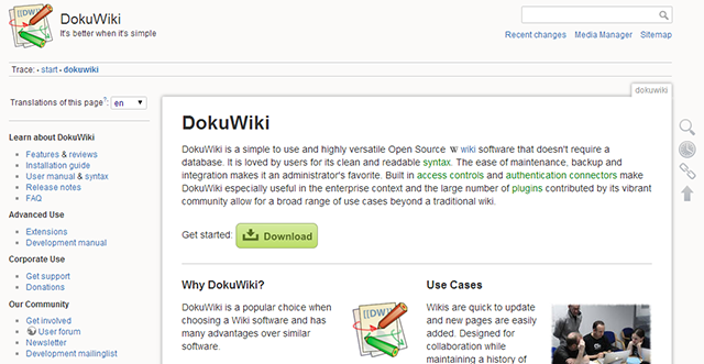 mediawiki-alternative-dokuwiki