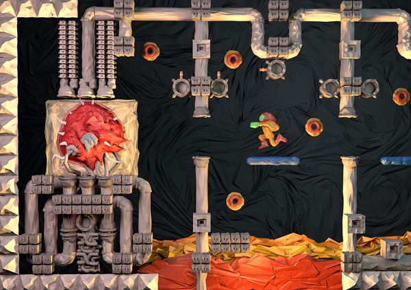 Insanely Amazing Digital Papercraft Illustrations of Classic NES Games papercraft classic games 6