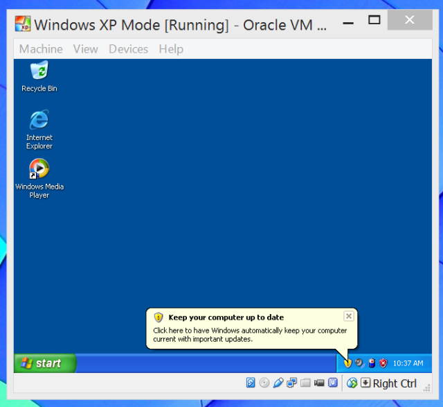 Forget the end of life woes windows 8 has an xp mode windows xp mode in windows 8 ccuart Image collections