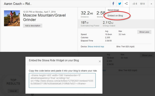 13 Strava - Website Activity Page - Embed on Blog - Code