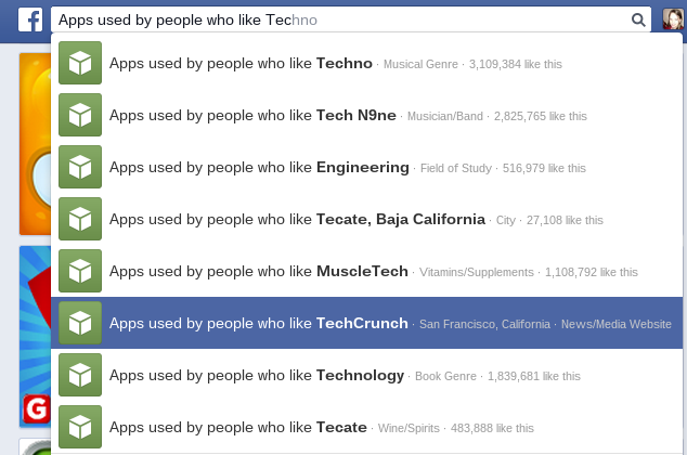 Facebook Apps by people who like Tech