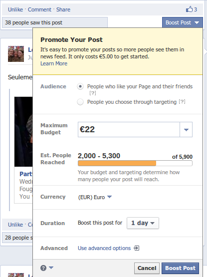 Facebook Promote Your Post