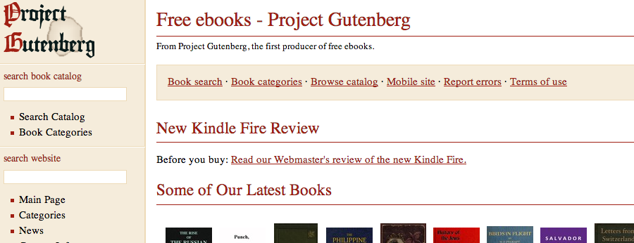 Project Gutenberg: More Than Just Free Books Gutenberg 5B
