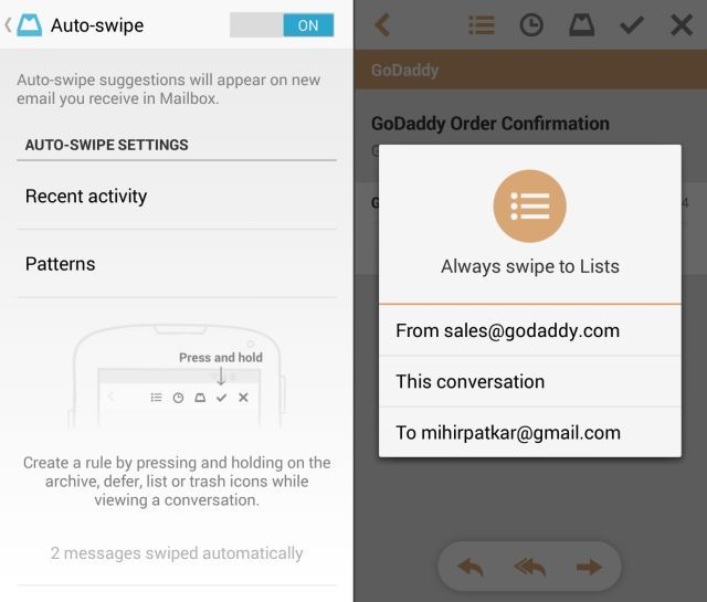 Mailbox-For-Android-Auto-Swipes-Always-Swipe-to-Lists