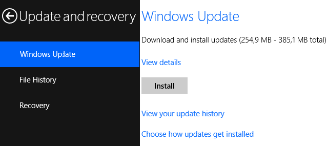 Install Windows Update
