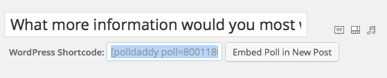 Wordpress poll code