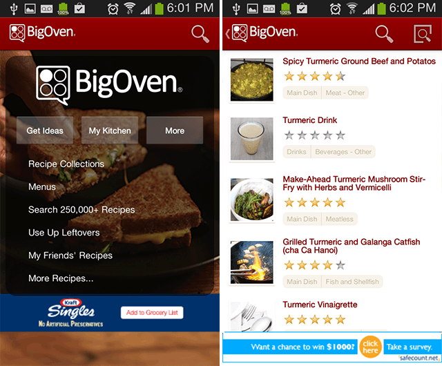 android-recipes-bigoven