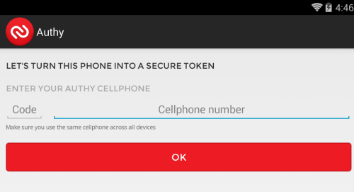 authy phone number authenticator
