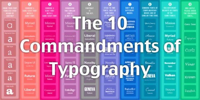 The Ten Commandments of Typography
