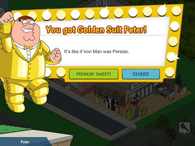 Family Guy: The Quest for Stuff – Essential Fan Service or Free To Play Lunacy? goldensuit