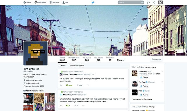 Twitter's New Profiles Are Here: Make Use Of Them! newtwitter2014