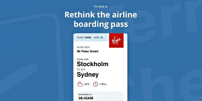 It's Time To Redesign The Airline Boarding Pass, This Is The Answer