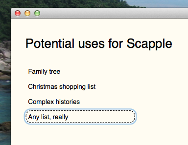 scapple-lists