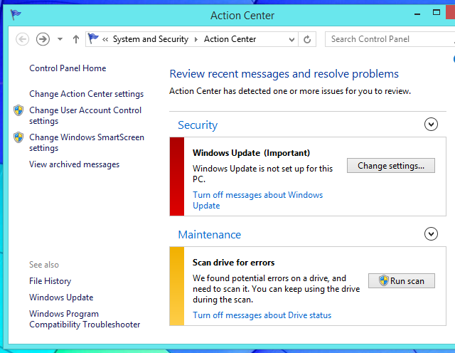 use-windows-action-center-to-find-problems