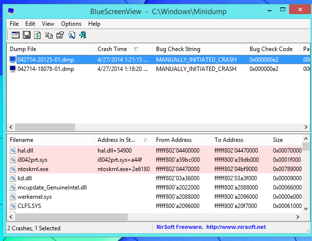 view-list-of-blue-screens-on-windows-8.1