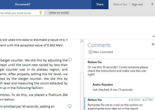 Word Online Updates With Comments, List Improvements, & Footnotes wocomments