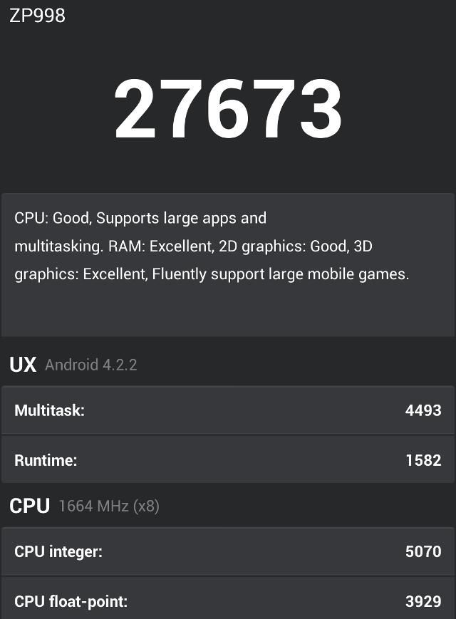 zopo performance screen capture antutu