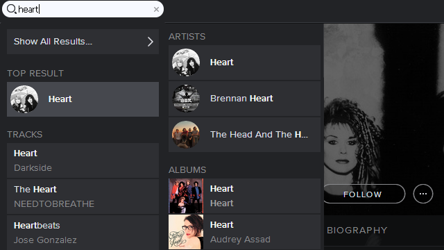Spotify Simple Search