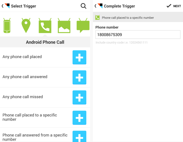 IFTTT Android Phone Calls