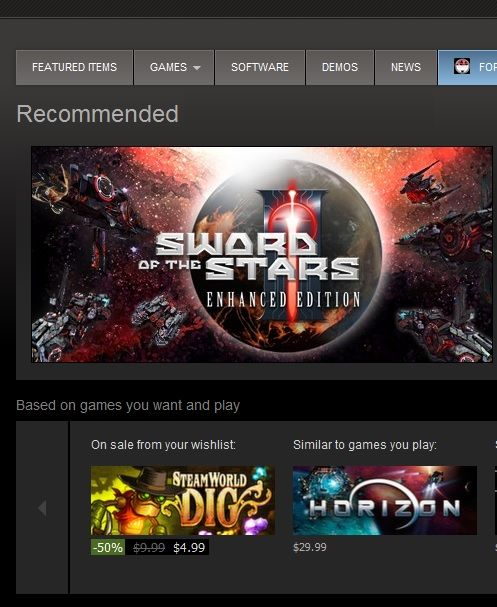 Steam-Recommended