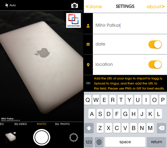 Instantly Watermark Your iPhone Photos With Free App Tagg ly