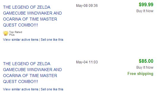 Zelda Wind Waker and Ocarina Master Quest Combo _ eBay