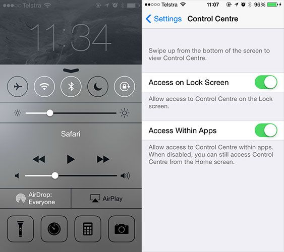 You Might Want To Change These Pesky Default iOS 7 Settings controlcentre