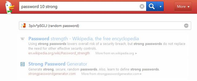 DuckDuckGo Password Generator