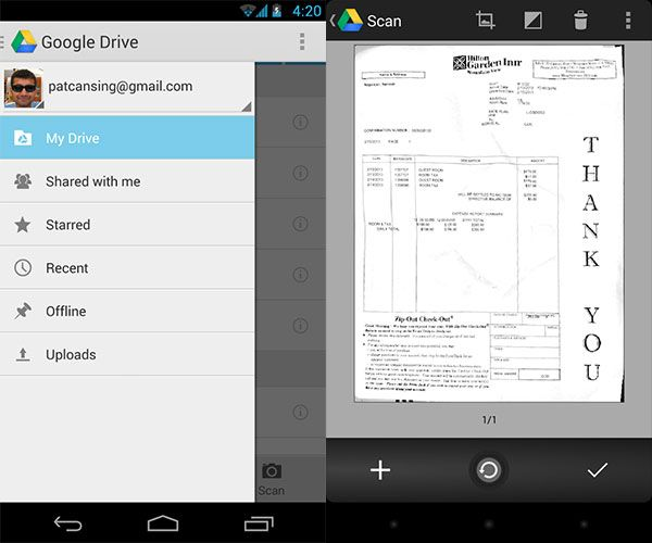 Scan & Manage Your Receipts, Save Space, Paper & Time googledriveandroid