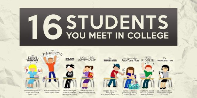 16 Types Of Students You'll Meet In College