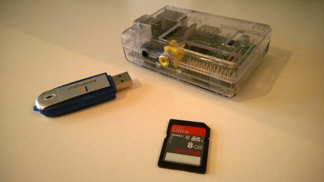 Raspberry Pi, storage, flash memory