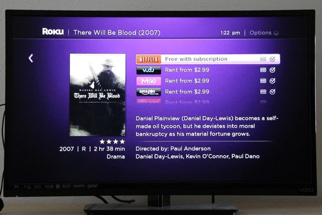 roku streaming stick review interface universal search