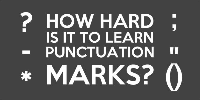 How To Use Punctuation Marks Correctly