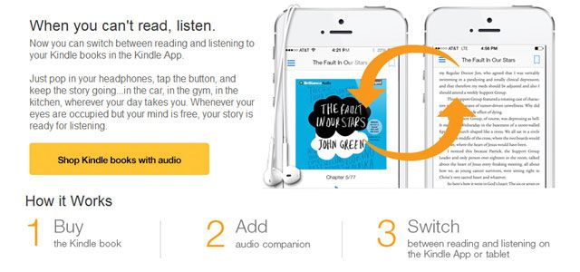 Read Or Listen: Amazon Integrates Audible In The Kindle