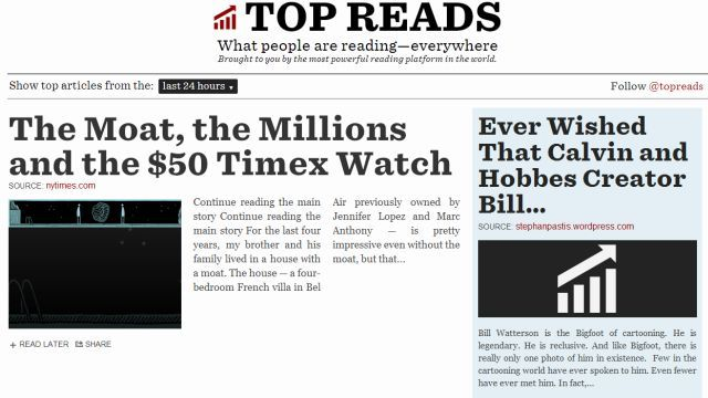 Readability-Top-Reads