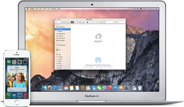 "What's New In OS X 10.10 ""Yosemite""? airdrop"