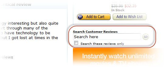 Amazon Review Search