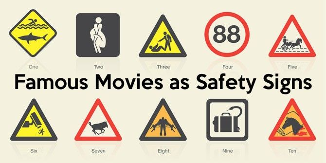 Famous Movies Reimagined As Safety Signs