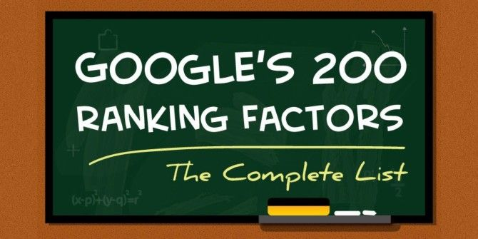 The Ultimate List of Google Ranking Factors