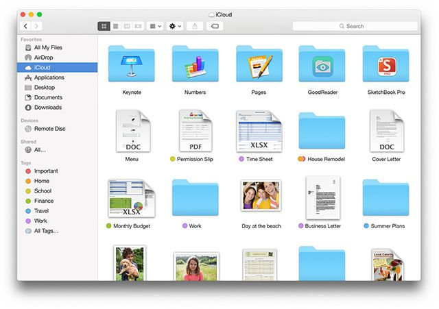 "What's New In OS X 10.10 ""Yosemite""? icloud drive"