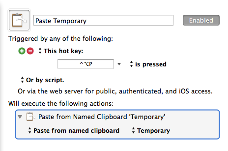 Named clipboard paste clipboard