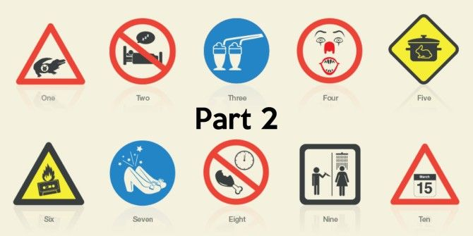 Famous Movies Reimagined As Safety Signs, Part 2