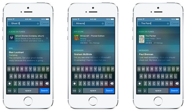 What's New In iOS 8? spotlight
