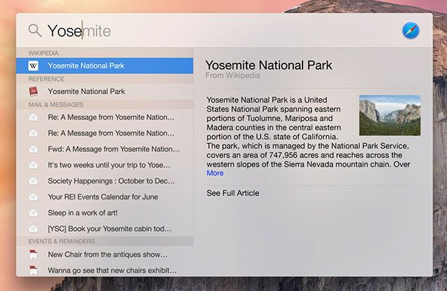 "What's New In OS X 10.10 ""Yosemite""? spotlight1"