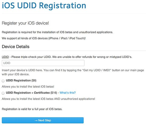 Why You Shouldn't Install The iOS 8 and OS X 10.10 Betas udid reg