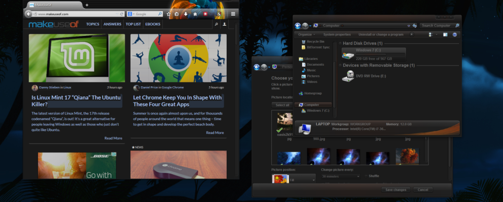 10 dark windows themes skins to reduce eye strain