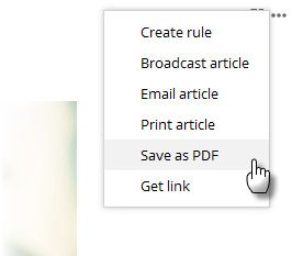 Inoreader -- Save as PDF