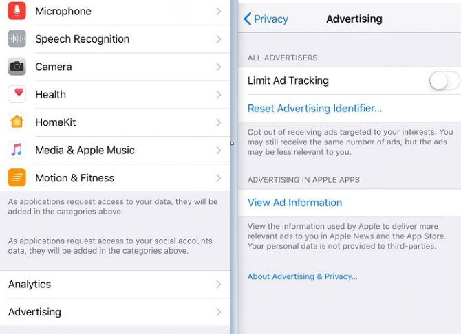 How to Stop Facebook From Selling Your Browsing Data ios ad tracking 670x486